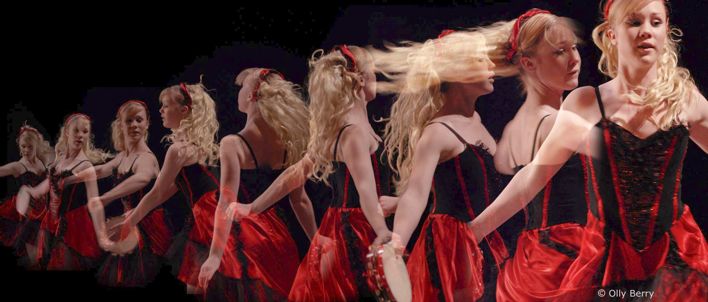 Montage of Dancer spinning. © Olly Berry