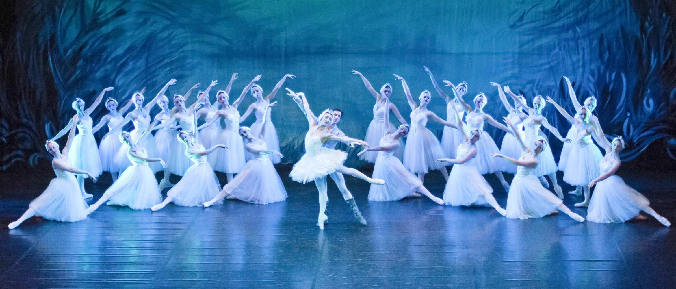The Principals and corps, Swan Lake by Duchy Ballet in 2013. © cameracraftphotography.co.uk
