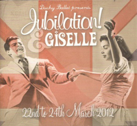 Duchy Ballet programme cover for Jubilation - Giselle 2012